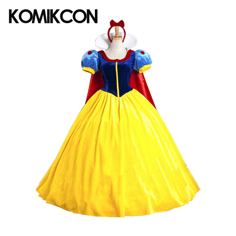 Snow Princess Dress Cosplay Costumes Halloween Costume Outfit for Women Girls Christmas Party Dresses Stage Costumes