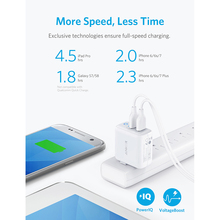 Anker PowerPortII 24W Dual USB Wall Charger with PowerIQ Technology Foldable Plug for iPhone X/8/7/6/6S Plus iPad Samsung More