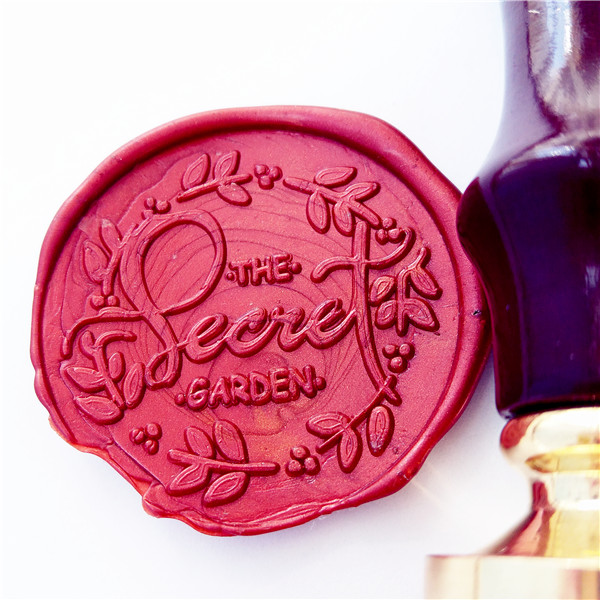The Secret Garden Wax Seal Stamp, Wax Stamp, Wedding Wax Seal, flower Envelope Seal, Wedding Invitations Laurels Seal excellent queality seal wax particle tablet in mini glass bottle 75 pcs muti colored to choose seal wax stamp use