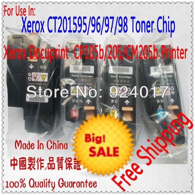 US $29 99 |Compatible Fuji Xerox CM205fw Toner,Reset Toner For Xerox  DocuPrint CP105b CP205 CP205w CM205b CM205f CM205fw Printer,4*Colors-in  Toner