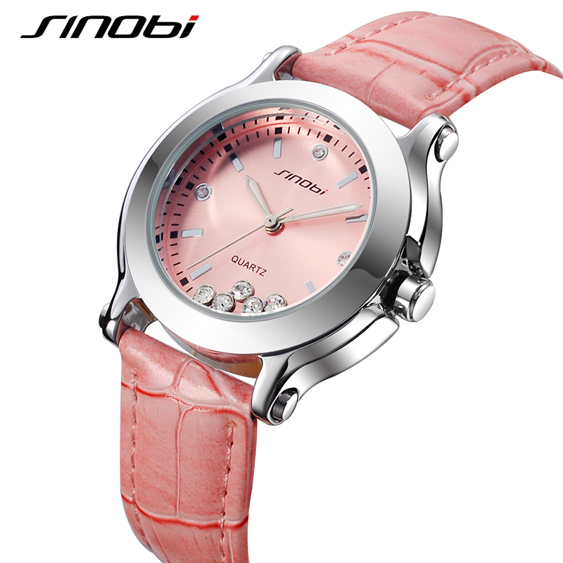 купить SINOBI Top Brand Quartz Watch Women Leather Watches Luxury Ladies Quartz Wristwatch Waterproof Relogio Feminino 2018 Clock #9276 по цене 678.62 рублей
