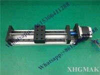 Yüksek Hassasiyetli GX80 * 50 Ballscrew 1204-1700mm Etkili Seyahat + Nema 34 Step Motor CNC Sahne Doğrusal hareket Moulde Doğrusal