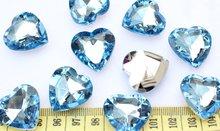 200 шт Большой 3d граненый акриловый сердце шикарные Стразы/драгоценные