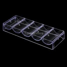 Professional Transparent Poker Chips Trays