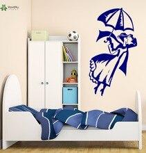 YOYOYU Vinyl Wall Decal Flying Woman Magic Fantasy Modern Playful Kids Room Portrait Decorative Stickers FD150