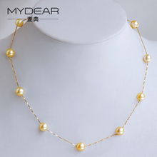 MYDEAR Amber Alibaba Fashion Jewelry Turkey South Sea Pearl Necklace Gold Necklace Designs for Women Statement Necklace 2017