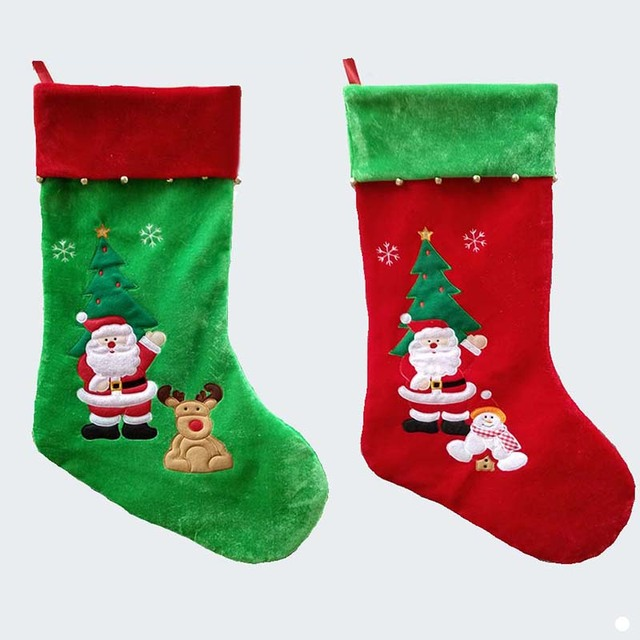353d23a87 77cm 30.3 inch length gold velvet stain large christmas stockings Santa  Claus kid xmas stocking