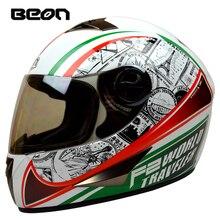Новое поступление бренд BEON beon-b-500 полный шлем классический мотоциклетных шлемов motociclistas capacete картинга шлем еэк одобрил