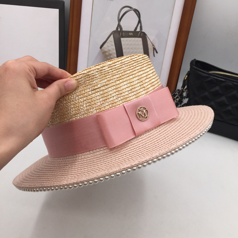 Pink color matching small sweet wind straw hat woman Jane sun hat tide  melting fashionable joker is prevented bask in-in Sun Hats from Apparel  Accessories ... a91f977126a8