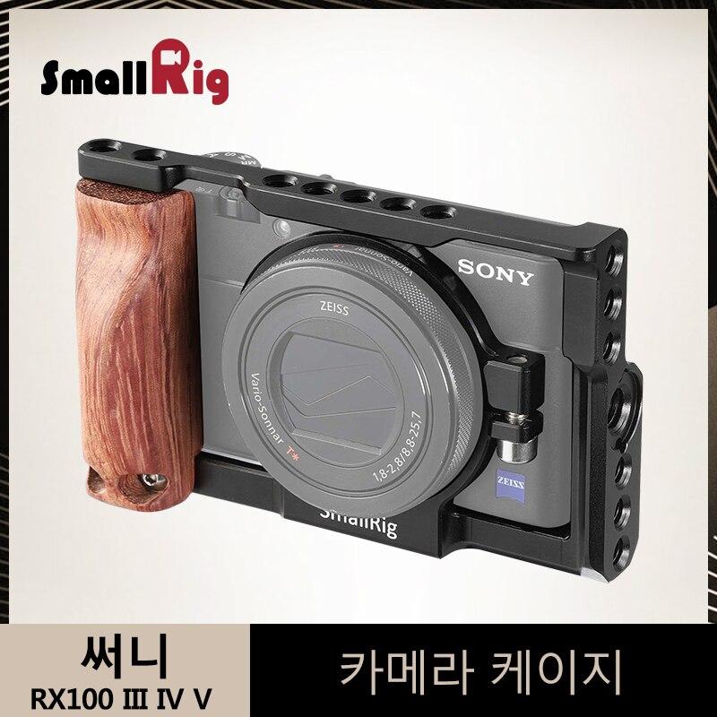 SmallRig клетка для sony RX100 III IV V M3/M4/M5 DSLR Камера Кейдж с Quick Release крепления деревянной ручкой-2105
