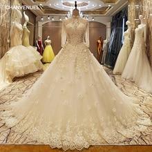 LS37053 свадебное платьеоптовые свадебные мантии высокой шеи длинным рукавом корсет закрытие назад открыть отверстие кружева края юбки свадебное платье