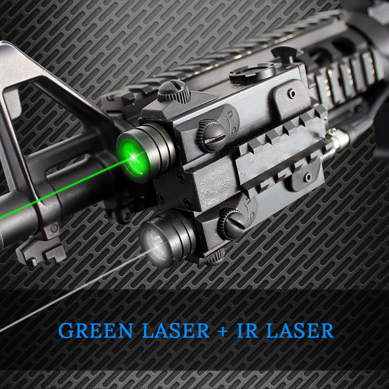 LS-2L1 Rifle Hunting Tactical Dual Beam Laser Sight AK47 AR15 Green/Red/IR Laser Scope