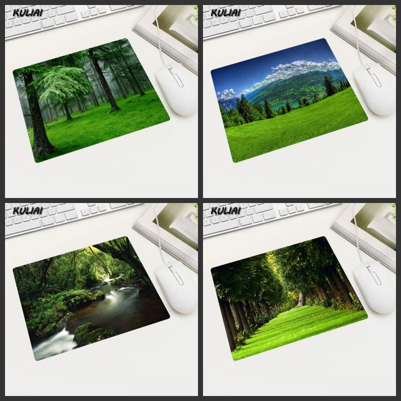 XGZ Summer Trees Flow Park View Mouse Pad Rubber Pad Laptop Tablet Mouse Mouse Pads Can Be Used To Buy Gifts After The Mouse image