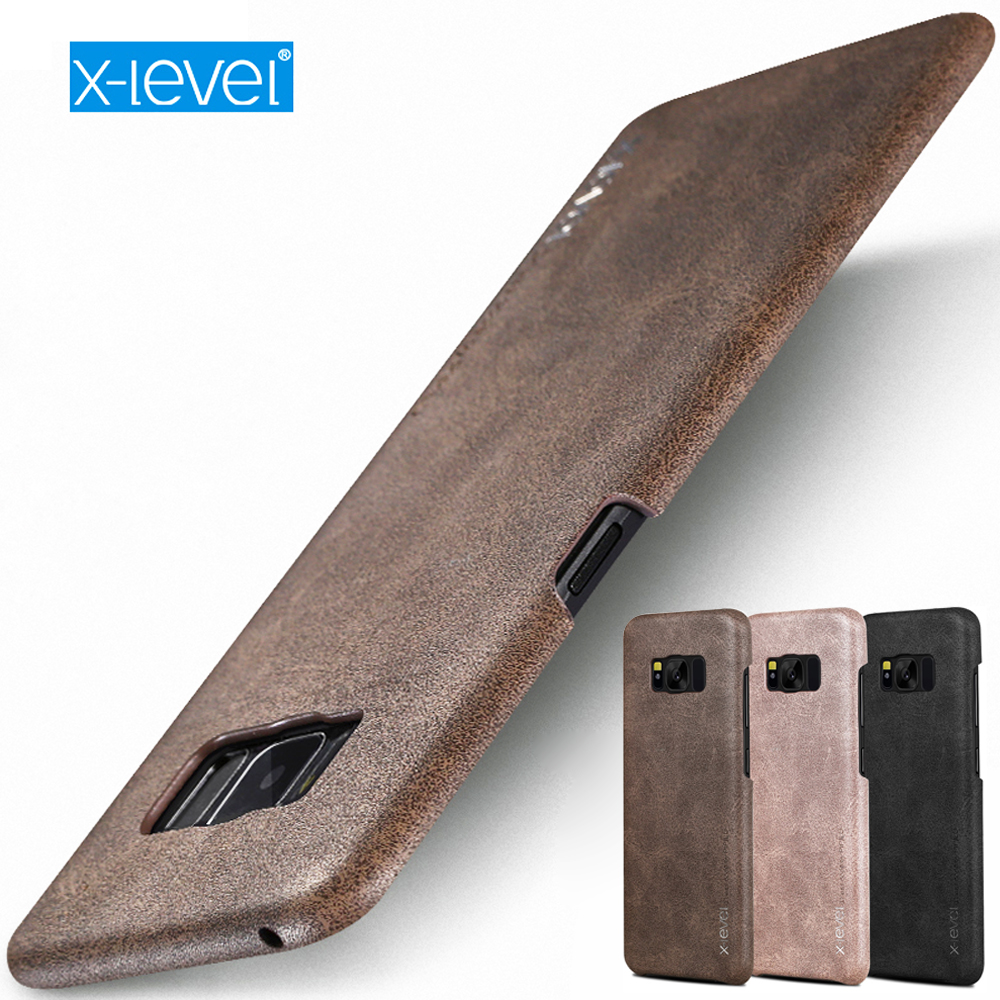 For Samsung Galaxy S7 Edge Case, X-Level Original Business Style PU Leather Soft Silicone Phone Cases Covers For S7 Capa