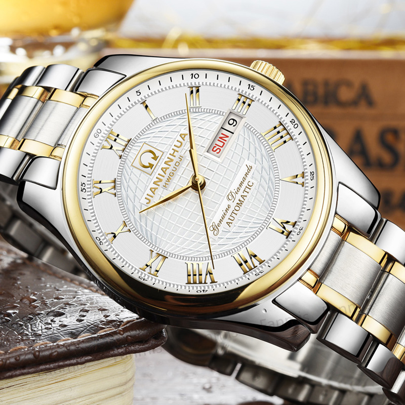 CARNIVAL Automatic Mechanical Men Watch Date Day Luxury Brand relogio masculino Sapphire stainless steel Mens Wristwatch fashion winner men luxury brand date display stainless steel watch automatic mechanical wristwatch gift box relogio releges 2017
