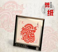Paper Craft tradition Technology Paper-cut handmade Photo frame 12 Chinese Zodiac Signs animals Foreign affairs business gifts