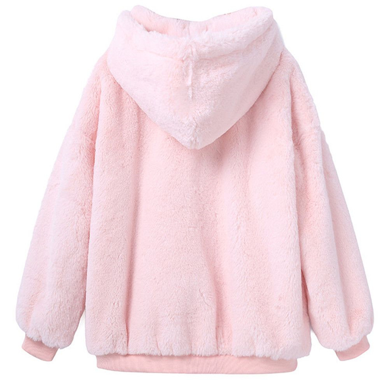HTB178EuaiYrK1Rjy0Fdq6ACvVXaf - 2019 Women Hoodies Sweatshirts Winter Warm Hooded Tops Loose Soft Cute Coat Harajuku Ladies Basic Kawaii Pullover Sweatshirts