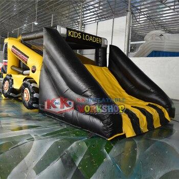 2020 Forklift slides indoor playground inflatable bouncy castle with slide for amusement park kids adult games