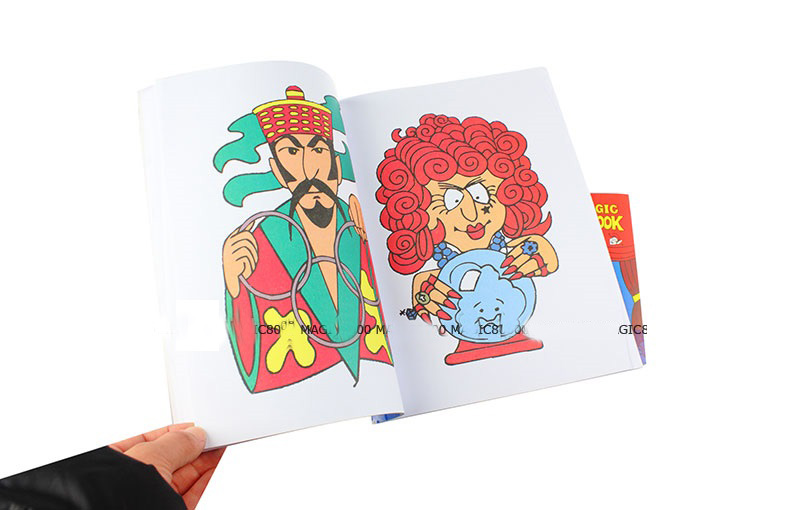 Aliexpress Buy Free Shipping Large Size Funny Coloring Book Comedy Magic Books Close Up Street Tricks Grimoire Spellbook Child Puzzle Toy From