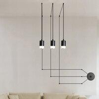 Creative Led Character Line Lamp Chandelier Droplight hanging Reto Wall Lighting Cloth Store Restaurant LED Energy-saving Home
