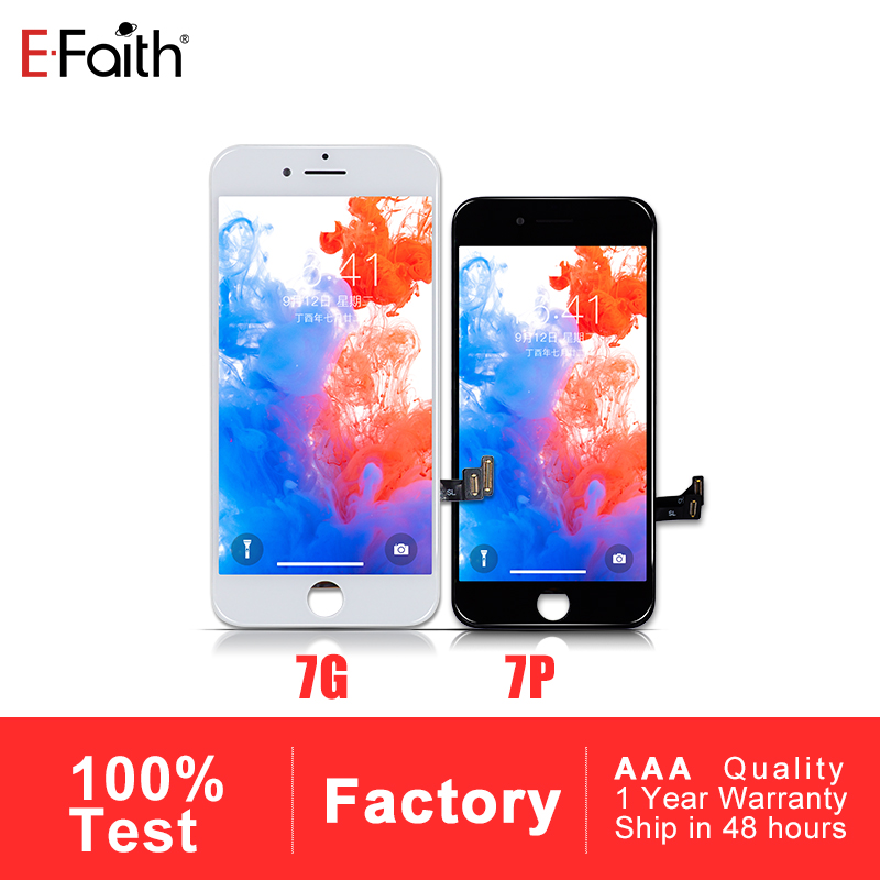 Efaith 10 PCS Display or LCD for iPhone 7 or for iPhone 7 Plus With Touch