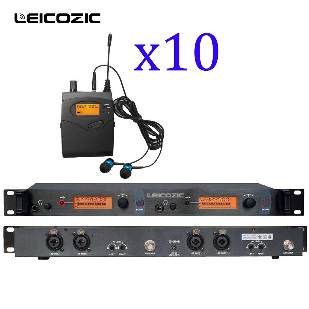 Leicozic SR2050 UHF Wireless Monitor di Sistema In-Ear In Ear fase Wireless Monitor di Sistema 10 Ricevitore sistema audio professionale