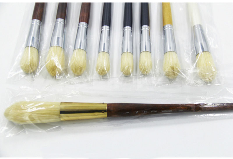 Oil Large Area Bristle Hair Brush Painting Brush for Art Craft Watercolor