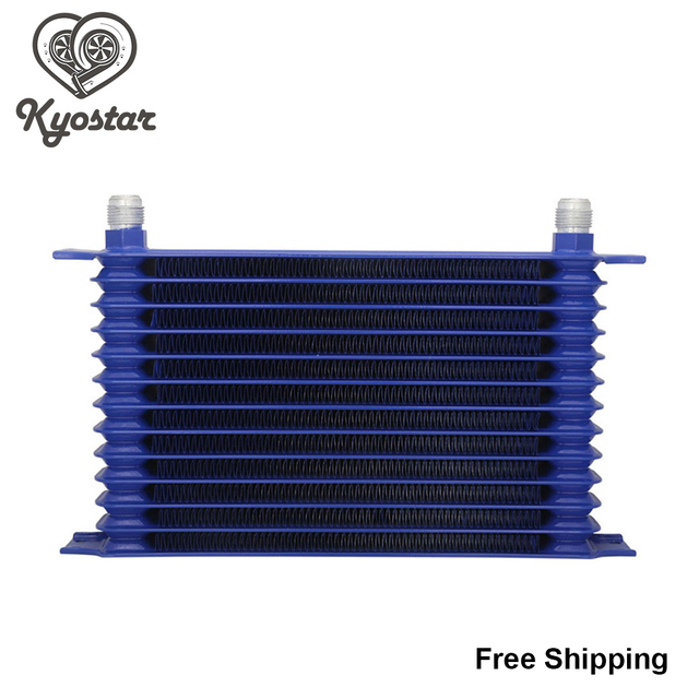 Universal 13 Row 10AN Oil Cooler Radiator Egine Trust Type Black Blue Aluminum Oil Cooler Kit For Car Truck