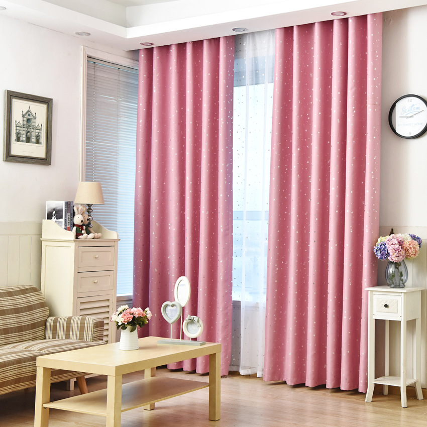 VILEAD New Beautiful Stars Curtain Embroidered Shade For Balcony ...