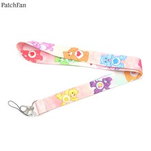 Patchfan Care bears A New Generation silicone cartoon lanyards neck straps for phones keys bead id card holders webbing A0838(China)