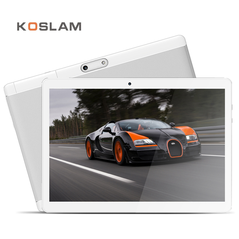 KOSLAM 4G LTE Android 7.0 Tablet PC Phablet 10 Inch 1920x1200 IPS Screen MT6753 Octa Core 2GB RAM 32GB ROM Dual SIM Card WIFI koslam 10 inch 3g android tablet pc 10 ips screen dual sim card phone call phablet quad core 1g ram 16gb rom wifi gps playstore