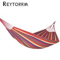 Hanging Sleeping Canvas Hammock Rainbow Garden Hamac 1 2 Person Cotton Outdoor Hamak Bed Furniture With