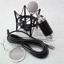 Newest Professional Condenser Sound Karaoke Microphone Echo Function microfone with Mic Shock Mount + Mic Wind Screen Pop Filter