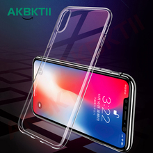 AKBKTII TPU Transparent phone case for iPhone XS MAX Case XR 7 plus Cover 6s 8 Defence Soft Shell