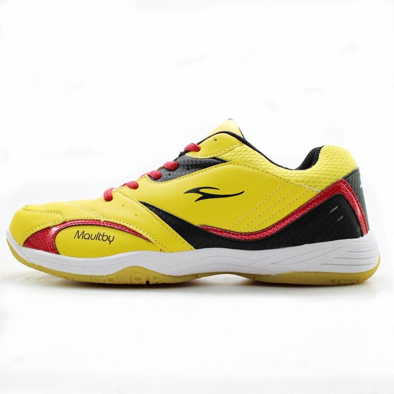 Maultby Men's Saga TD Badminton Shoes Training Breathable Anti-Slippery Light Sport Badminton Shoes