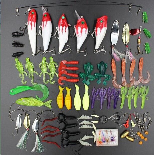 Good deal 100Pcs Fishing Lures Set Hard Soft Bait Minnow A Variety Of Tackle Bass Swimbait Crankbaits Box New Multiple Colors клей активатор для ремонта шин done deal dd 0365