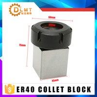 1pcs ER40 ER32 ER25 Square Collet Chuck Holder 3900 5125 Block For Lathe Engraving Machine