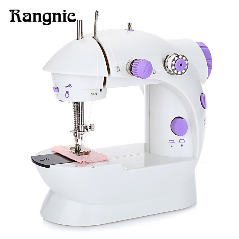 New Mini Handheld Sewing Machine Dual Speed Double Thread Multifunction EU Electric Mini Automatic Tread Rewind Sewing Machine mini handheld battery operated sewing machine for kids
