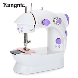 New Mini Handheld Sewing Machine Dual Speed Double Thread Multifunction EU Electric Mini Automatic Tread Rewind Sewing Machine