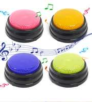 4 farben/set 20 s Beschreibbare Reden Taste mit Led Funktion, Lernen Ressourcen Antwort Summer