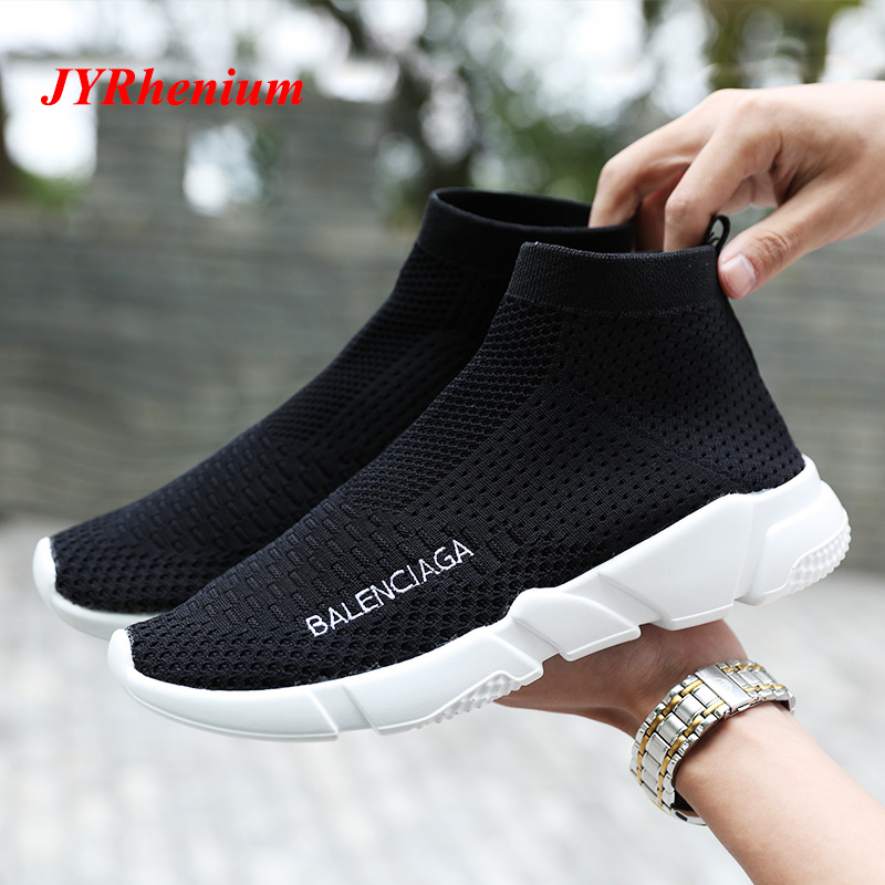 Spring 2018 Socks Women Running Shoes Brand Fly line Fabric Lovers Sport Shoes For Men Outdoor Athletic Women's Sneakers