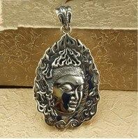 Thai silver Buddha Sterling Silver S925 silver pendant