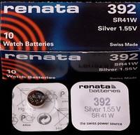 30 X renata Silver Oxide Watch Battery 392 SR41W 1.55V 100% original brand renata 392 renata 41 battery