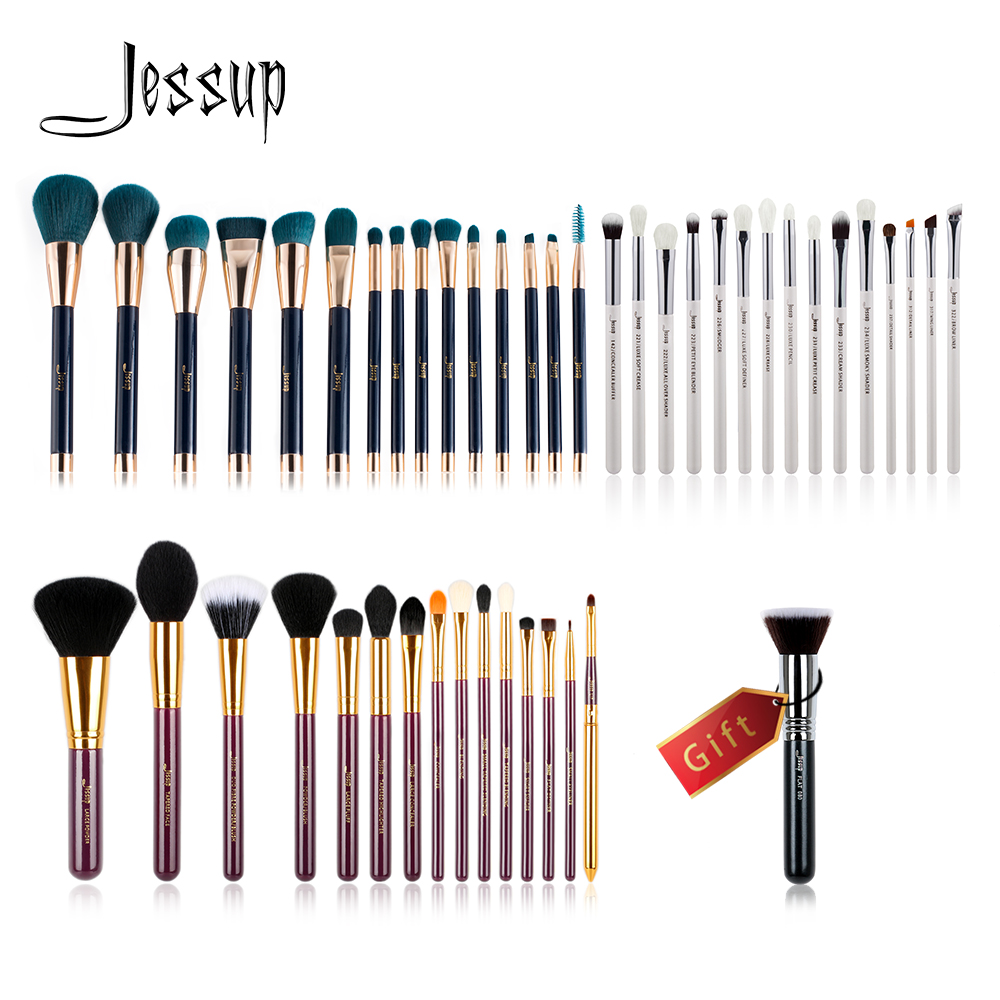 Jessup Buy 3 get 1 gift Makeup Brushes set Cosmetic tool Make up brush Powder Foundation Eyeshadow Eyeliner kit Eye Liner Shader new pro 22pcs cosmetic makeup brushes set bulsh powder foundation eyeshadow eyeliner lip make up brush high quality maquiagem