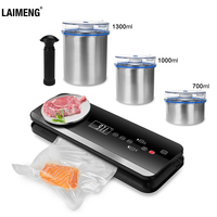 LAIMENG Automatic Vacuum Food Sealer With Food Grade Vacuum Bags Packing Machine Vacuum Packer Package Kitchen Appliance S221