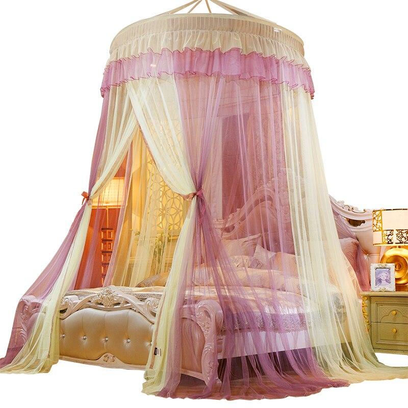 lit princesse rideau au crochet moustiquaire lit baldaquin filet lit cantonniere double ck plafond monte lit maison textiles fournitures 30