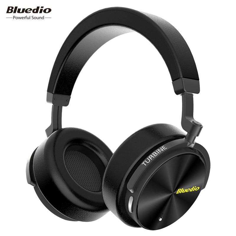 Bluedio T5 Active Noise Cancelling Draadloze Bluetooth Hoofdtelefoon Draagbare Headset met microfoon voor telefoons en muziek