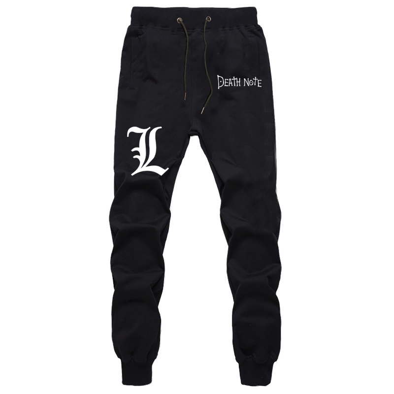High Quality Students Sports Summer Breathable Pants Anime Death Note Cotton Straight Trousers Jogger Fitness Cosplay Sweatpants