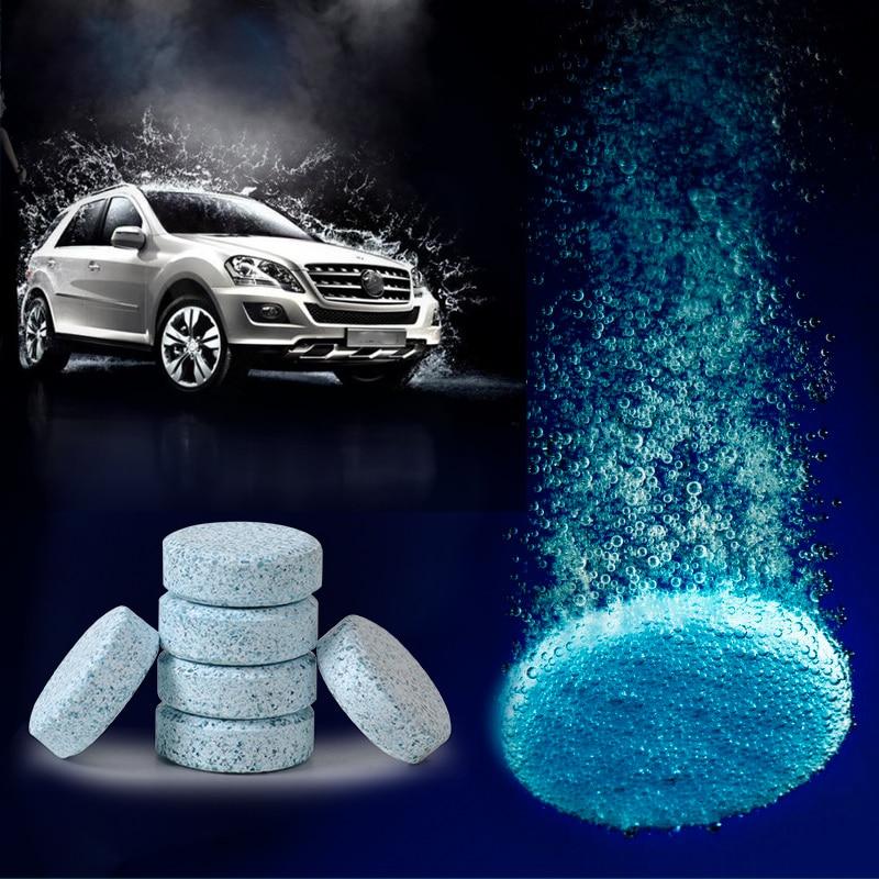 beler 6pcs/set Windshield Glass Washer Cleaner Compact Effervescent Tablets Detergent for VW Audi BMW Toyota Mazda Kia Chevrolet