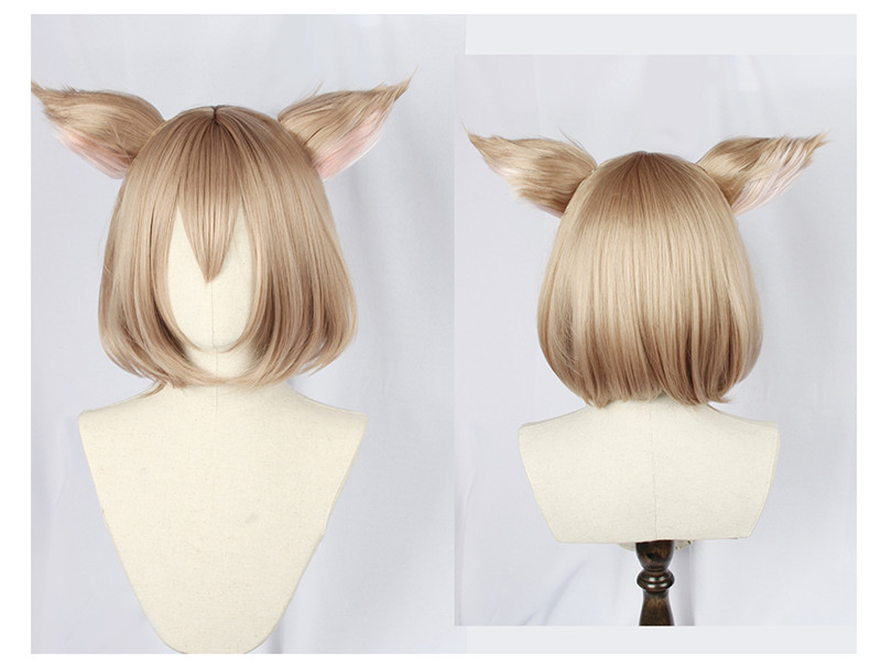 Felix argyle cosplay peruca re zero kara hajimeru isekai seikatsu felix argyle anime cabelo sintético cosplay perucas + orelhas + boné + faixa